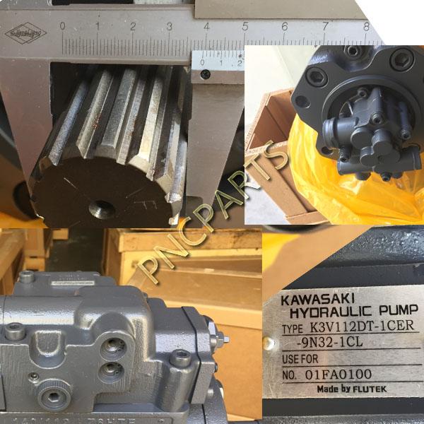 Volvo EC210B Hydraulic Main Pump EC240B K3V112DT - Pnc Hyd Parts