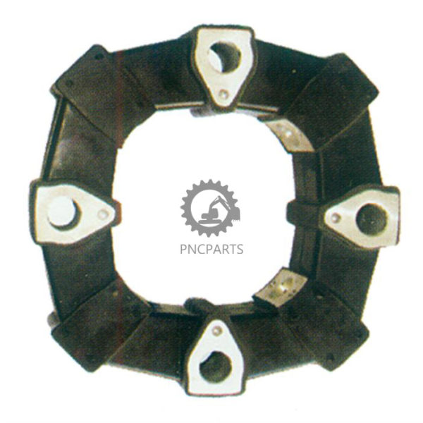 NC CP16 - 50AS Rubber Coupling For E120 E312, Bolt Hole