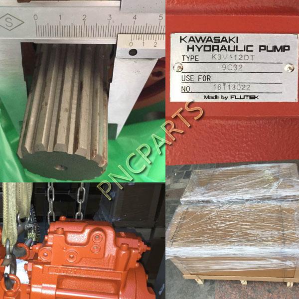 JCB JS220 main pump a - Kawasaki JCB JS220 Hydraulic Main Pump K3V112DT 9C32,14T
