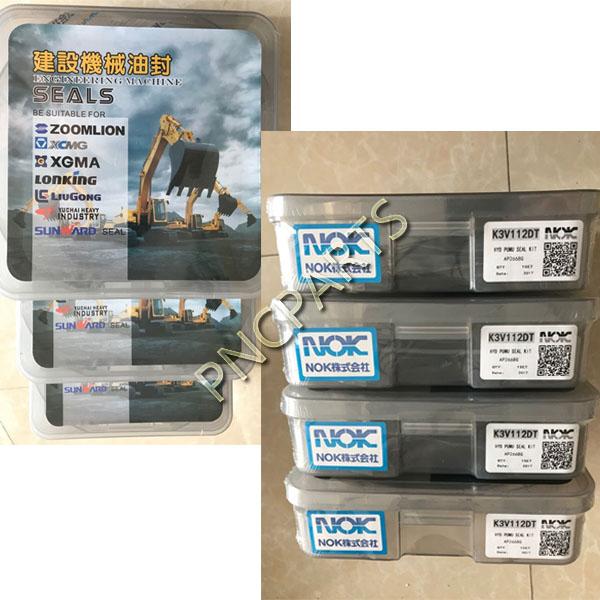 Kawasaki K3V63DT K5V140DT K3V112DT K5V200DT Hydraulic Pump Seal Kit