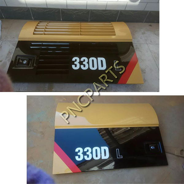 E330DL side door 1 - Caterpillar E320C Radiator side Door CAT320C Backdoor Radiator