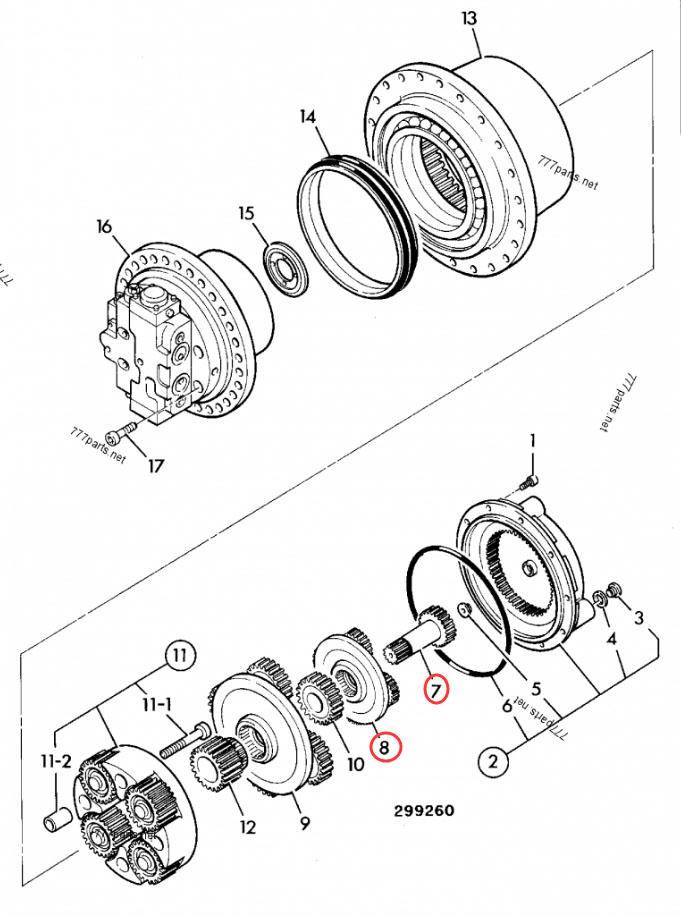 d87fc745425ff6f84347ed3e8fa15fc - JCB130 05/903824 JCB160 Gear Sun 1st, 05/903825 Gear Reduction Set 1st
