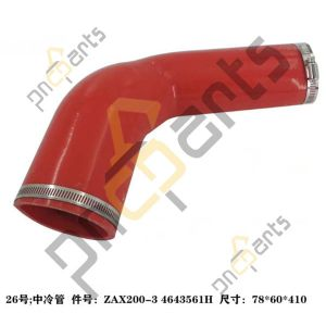 4643561H 300x300 - ZX170W ZX200-3 ZX270-3 Inter Cooler Pipe 4643561H With Clamp 4504491 4503469